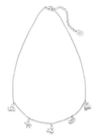 Disney Couture: Mickey Mouse Icon Charm Necklace - White Gold