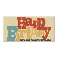 Bellaberry: Happy Birthday Retro Milk Chocolate (100g)