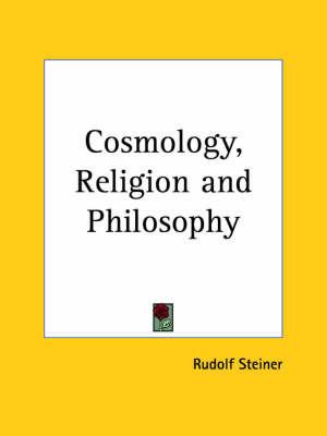 Cosmology, Religion by Rudolf Steiner image