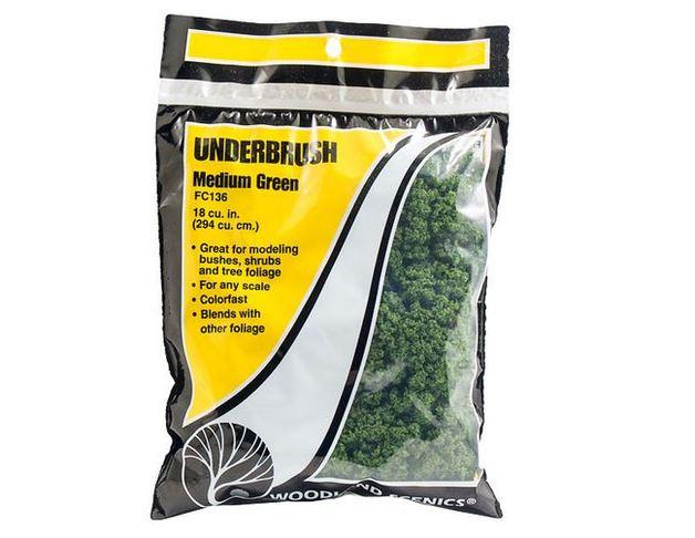 Woodland Scenics Underbrush Medium Green Bag
