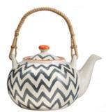 General Eclectic Chevron Bamboo Tea Pot