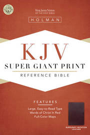 Bible Kjv Super Giant Print Reference Burgundy by Bible