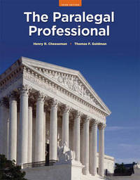 The Paralegal Professional by Thomas F. Goldman image