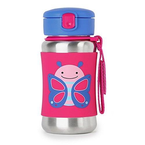 Skip Hop: Zoo Stainless Steel Straw Bottle - Butterfly