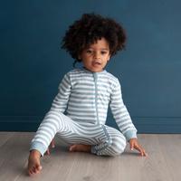 Woolbabe Merino/Organic Cotton PJ Suit - Tide (1 Year) image