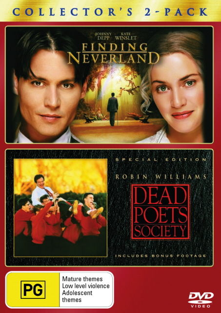Finding Neverland / Dead Poets Society - Collector's 2-Pack (2 Disc Set) on DVD image