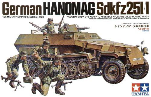 Tamiya German Hanomag Sd.Kfz. 251/1 1:35 Model Kit