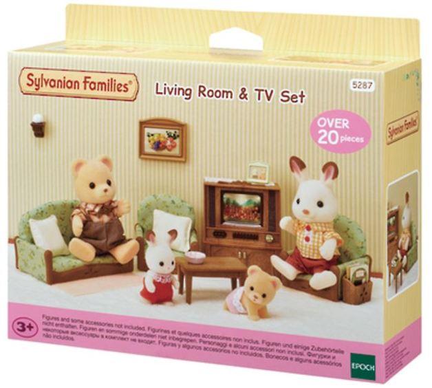 Sylvanian Families: Living Room & TV Set