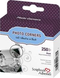 3L Polypropeylene Photo Corners - Black (250 Corners)