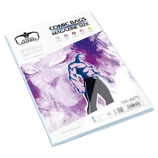 Ultimate Guard: Resealable Comic Bags - Magazine (100-Pack)