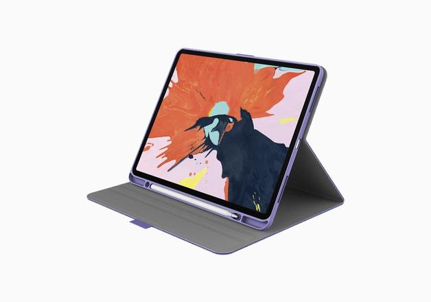 "Cygnett: TekView with Apple pencil holder for iPad Pro 12.9"" Lilac/Purple"