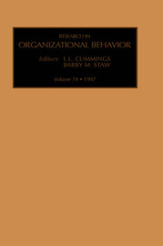 Research in Organizational Behavior: Volume 19 by Barry M Staw image