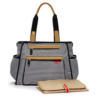Skip Hop: Grand Central Nappy Bag - Black Stripes
