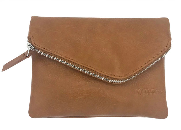 Moana Rd: Grey Lynn Clutch - Tan