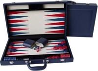 "Dal Rossi Backgammon 18"" PU Leather - Blue"