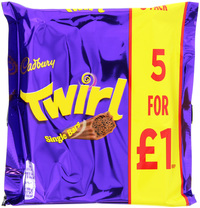 Cadbury Twirl Chocolate Bar 5pk