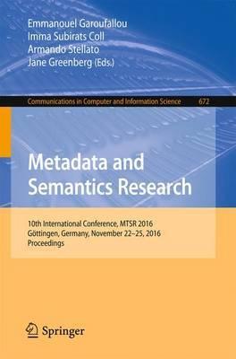 Metadata and Semantics Research image