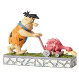 Flintstones: Fred Mowing the Lawn Mower-a-Saurus Statue