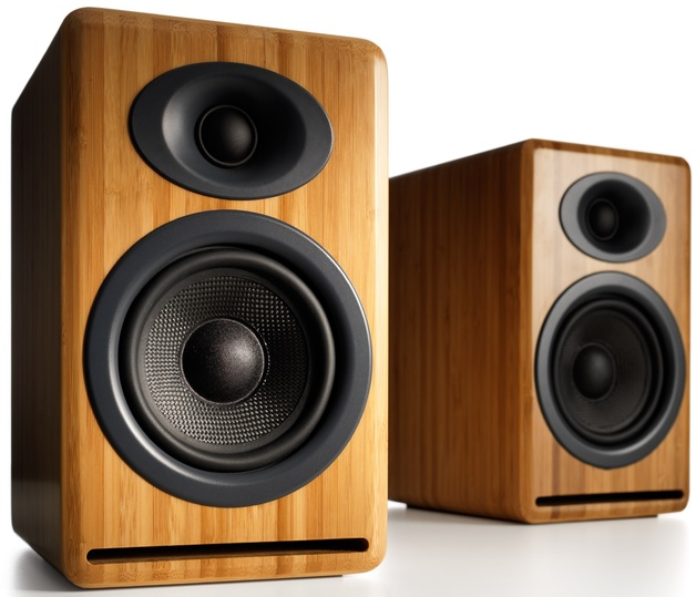 Audioengine P4 Passive Bookshelf Speakers (Pair) Solid Bamboo