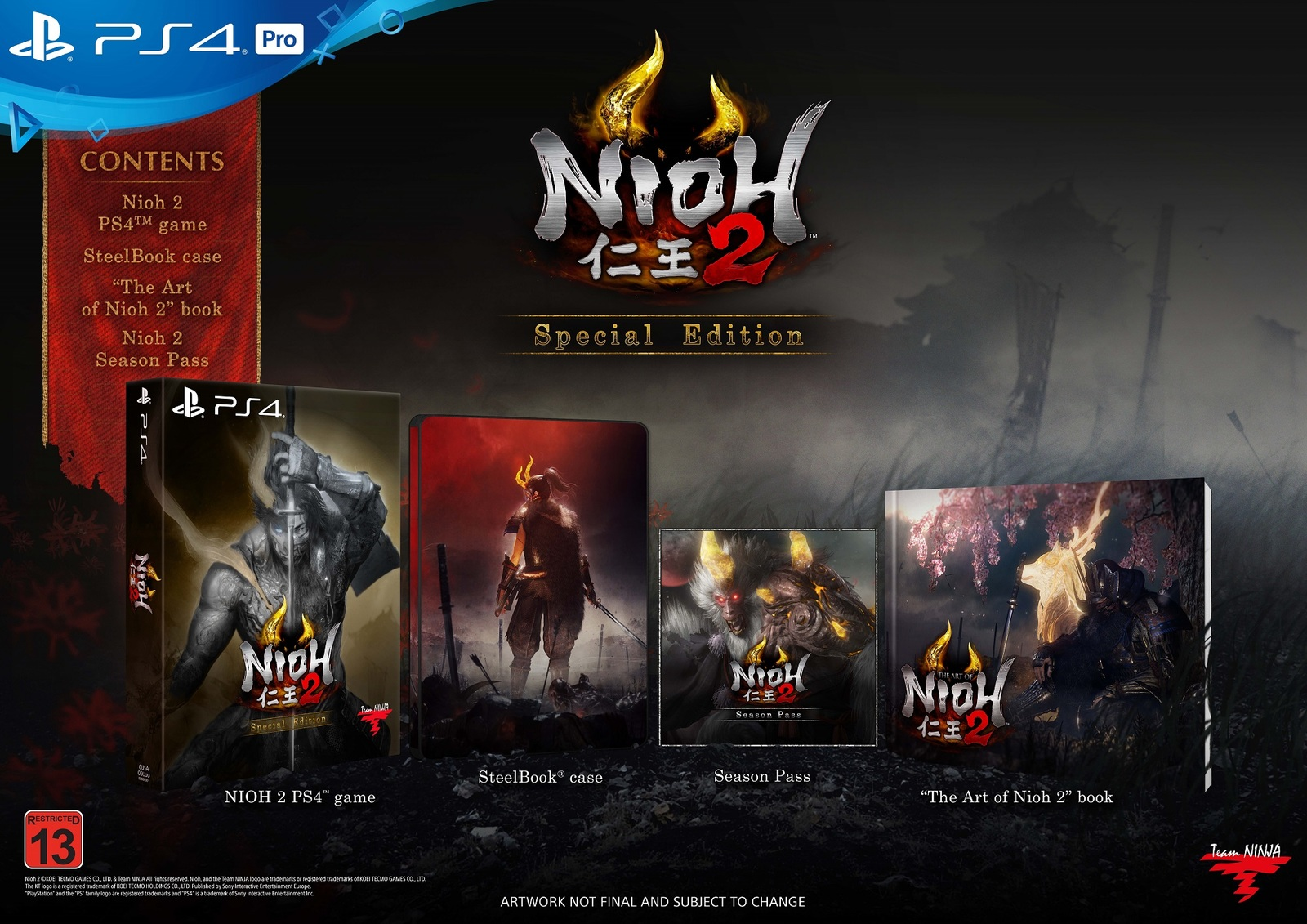 Nioh 2 Special Edition for PS4 image