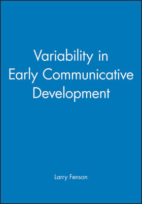 Variability in Early Communicative Development by Larry Fenson image