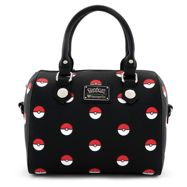 Loungefly Pokemon Pokeball Print Duffle Bag