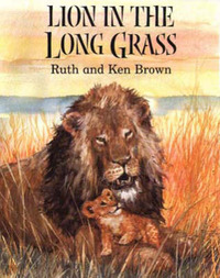 Lion in the Long Grass by Ruth Brown image