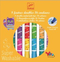 Djeco: Design - 8 Twin Washable Markers