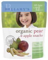 Bellamy's - Organic Apple & Pear Snacks (20gm)