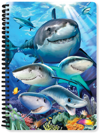 Shark Selfie A5 Lenticular Notebook