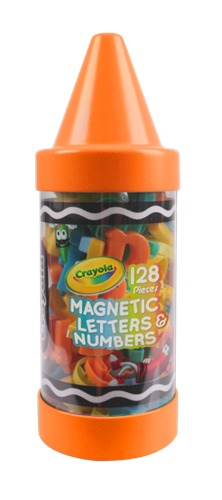 Crayola: Magnetic Letters & Numbers - 128pc (Assorted Colours)