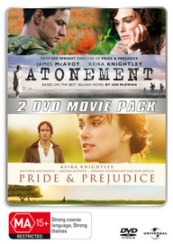 Atonement / Pride & Prejudice (2 Disc Set) on DVD image