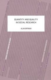 Quantity and Quality in Social Research by Alan Bryman image