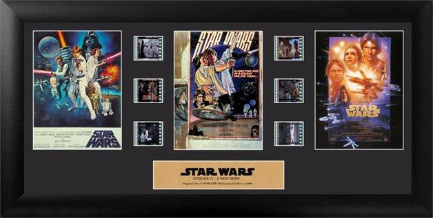 FilmCells: Montage Frame - Star Wars I-III (Character Trilogy)