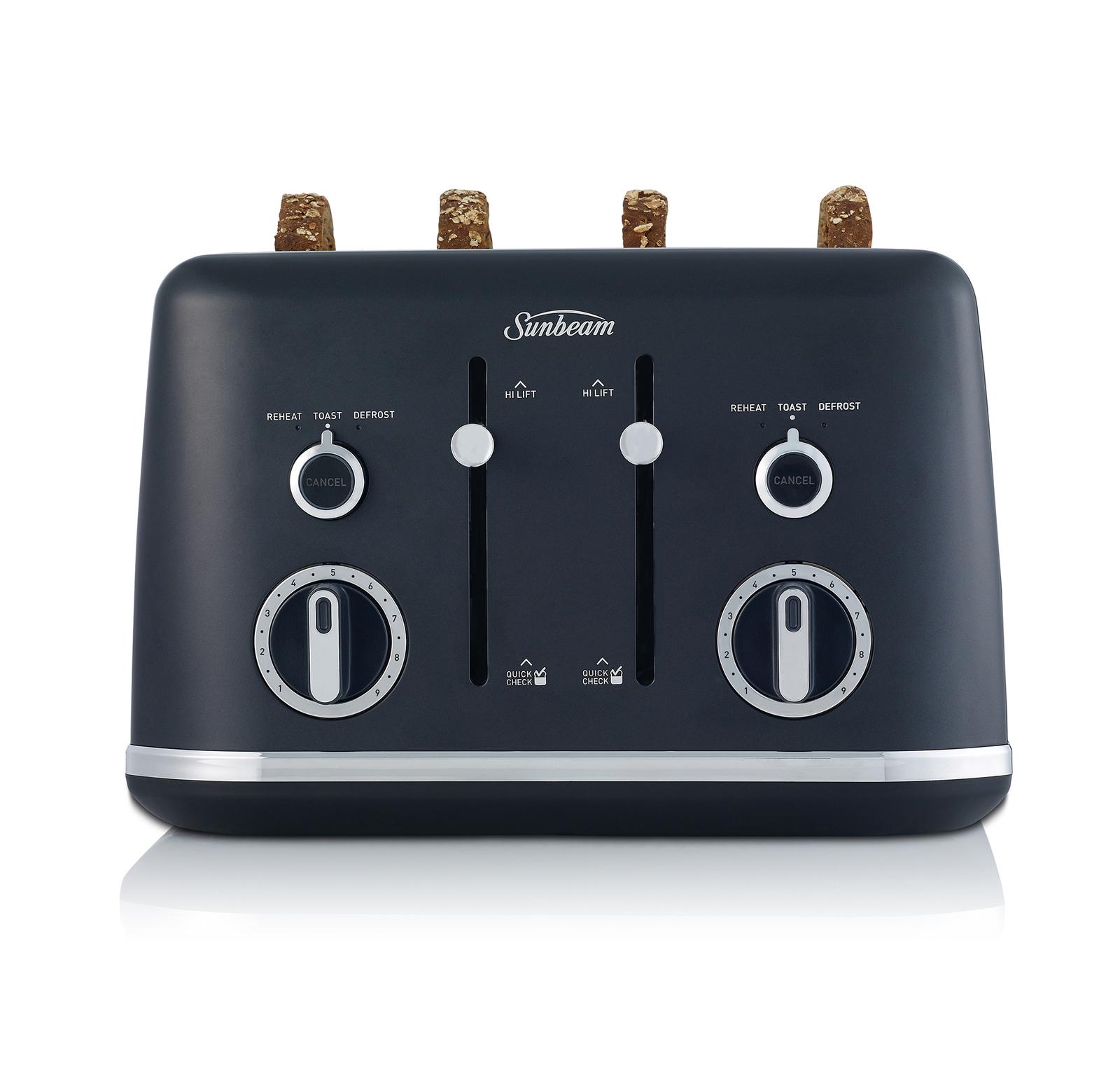 Sunbeam: Gallerie Collection 4 Slice Toaster - Midnight Black image