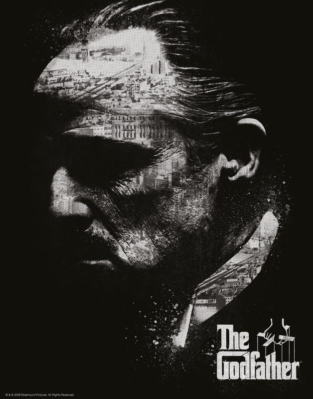 Godfather: Premium Art Print - Black & White