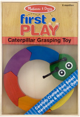 First Play Caterpillar Grasping Toy - Melissa & Doug image