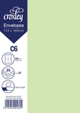 Envelope C6 Green - 114x162mm (Pack 25)