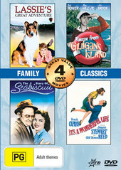 Family Classics (It's A Wonderful Life / Lassie's Great Adventure / Rescue From Gilligans Island / The Story Of Seabiscuit) (2 Disc on DVD