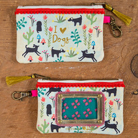 Natural Life: Id Pouch - I Love Dogs Red