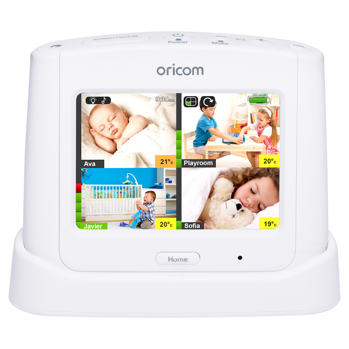Oricom: Secure870 3.5″ Touchscreen Video Monitor with Starry Lightshow - White image