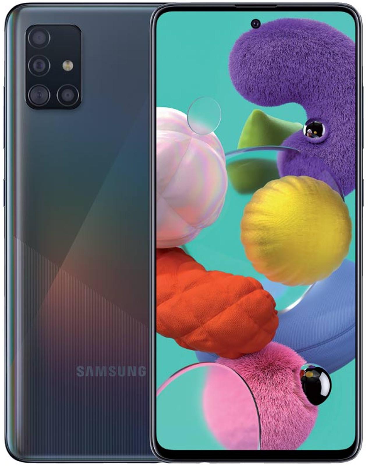 Samsung Galaxy A51 (128GB/8GB RAM) - Prism Crush Black image