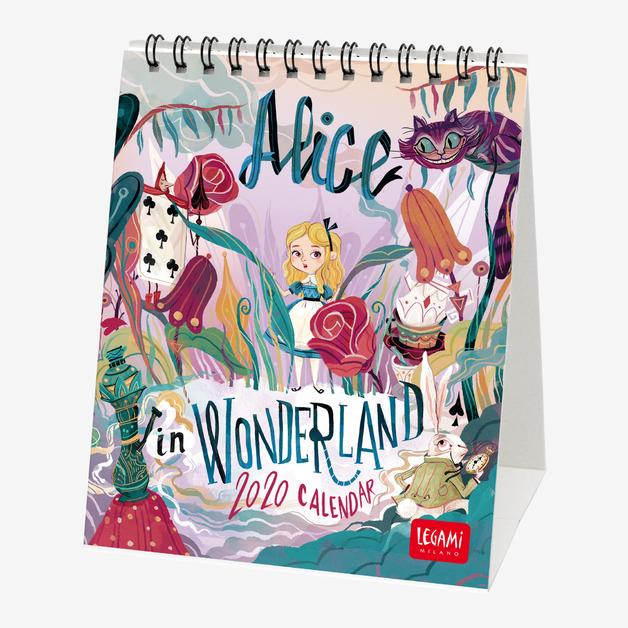 Legami: Alice In Wonderland 2020 Desk Calendar