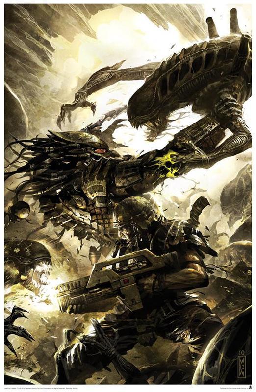 Alien vs. Predator Three World War #4 - Lithograph Art Print