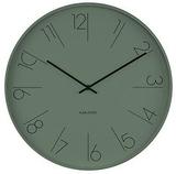 Karlsson Wall Clock - Elegant Numbers: Green