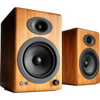Audioengine: 5+ Wireless Powered Speakers (pair) - Solid Bamboo