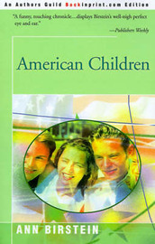 American Children by Ann Birstein image