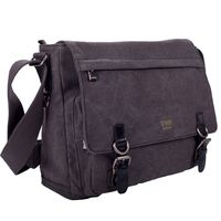 Classic Laptop Messenger Bag - Black