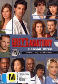 Grey's Anatomy - Season 3: Seriously Extended (7 Disc Set) on DVD image