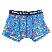 Super Mario Brothers Blue Boxer Briefs (Large)